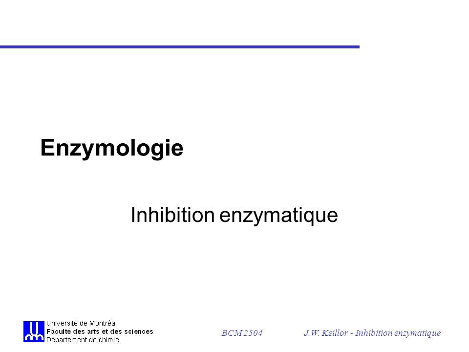 BCM 2504J.W. Keillor - Inhibition enzymatique Tableau sommaire des modificateurs chimiques