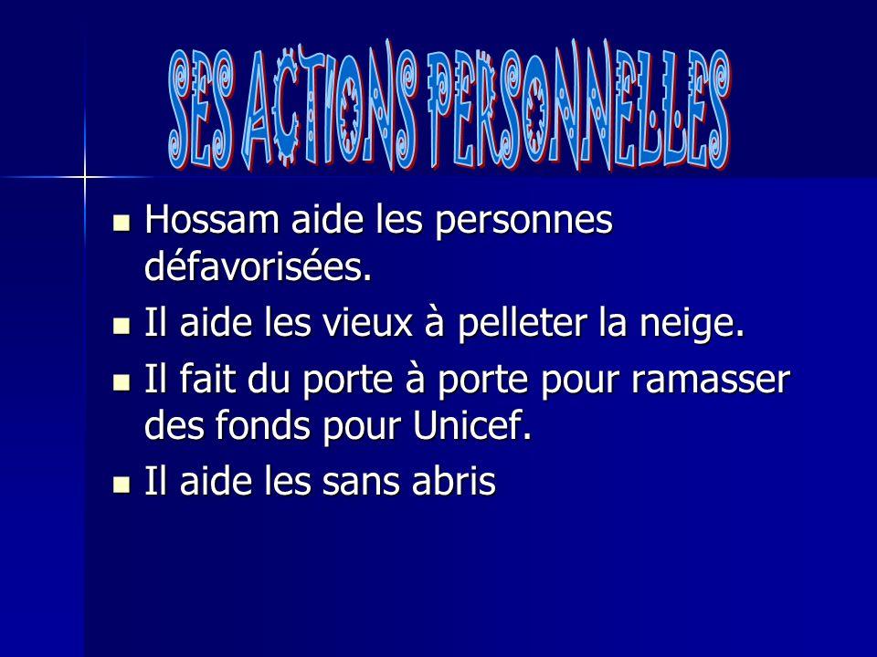 Hossam aide les personnes défavorisées. Hossam aide les personnes défavorisées.