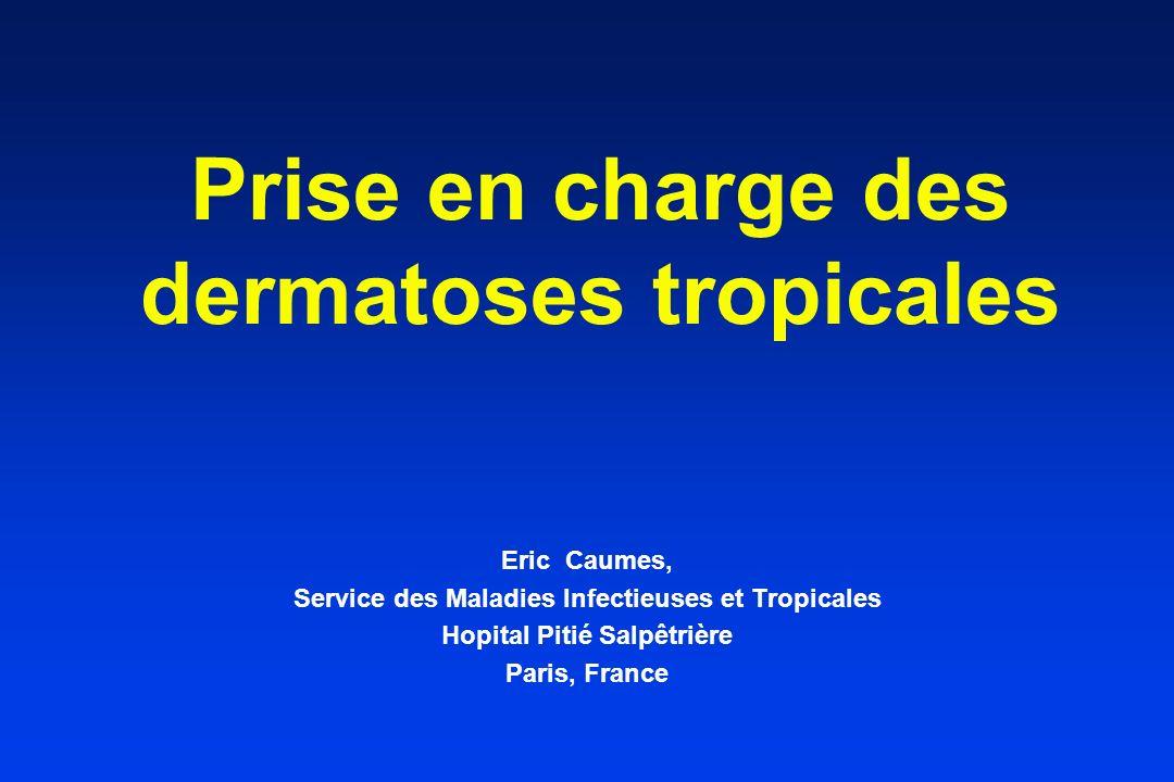 Prise en charge des dermatoses tropicales Eric Caumes, Service des Maladies Infectieuses et Tropicales Hopital Pitié Salpêtrière Paris, France