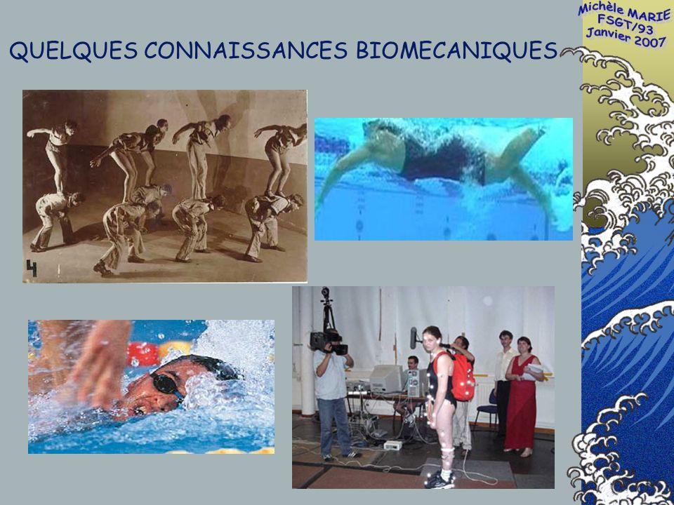 QUELQUES CONNAISSANCES BIOMECANIQUES