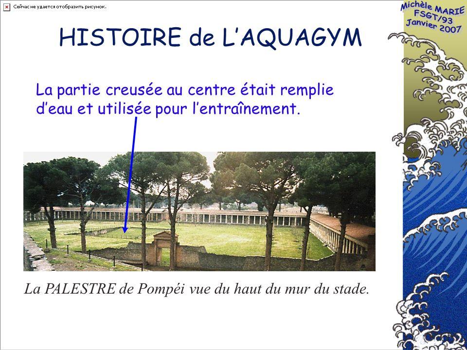 HISTOIRE de LAQUAGYM La PALESTRE de Pompéi vue du haut du mur du stade.