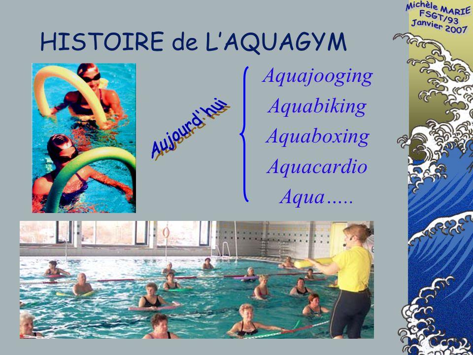 Aquajooging Aquabiking Aquaboxing Aquacardio Aqua….. HISTOIRE de LAQUAGYM