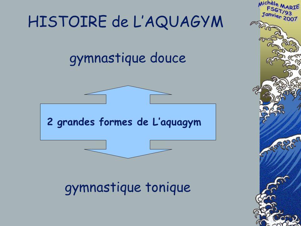 gymnastique douce gymnastique tonique 2 grandes formes de Laquagym HISTOIRE de LAQUAGYM