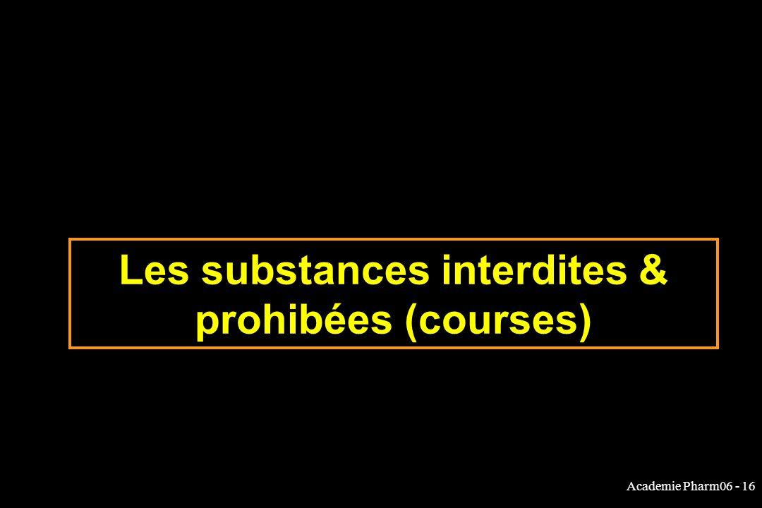 Academie Pharm06 - 16 Les substances interdites & prohibées (courses)
