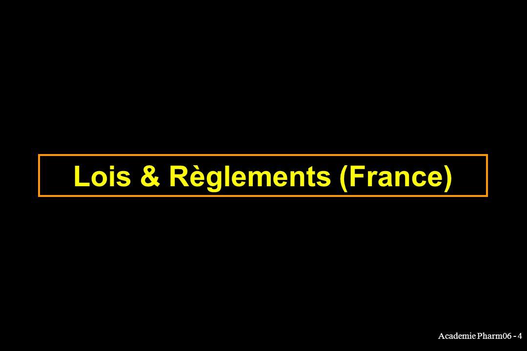 Academie Pharm06 - 4 Lois & Règlements (France)