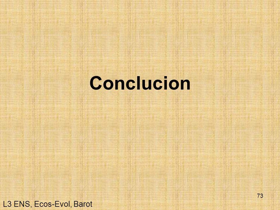 73 Conclucion L3 ENS, Ecos-Evol, Barot