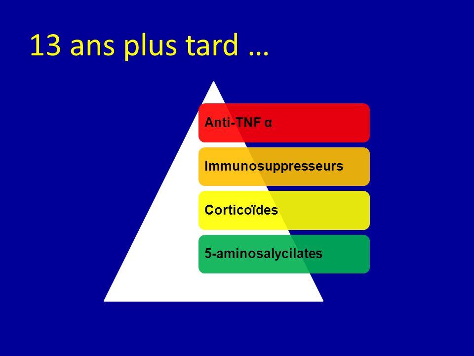 Anti-TNF αImmunosuppresseursCorticoïdes5-aminosalycilates 13 ans plus tard …