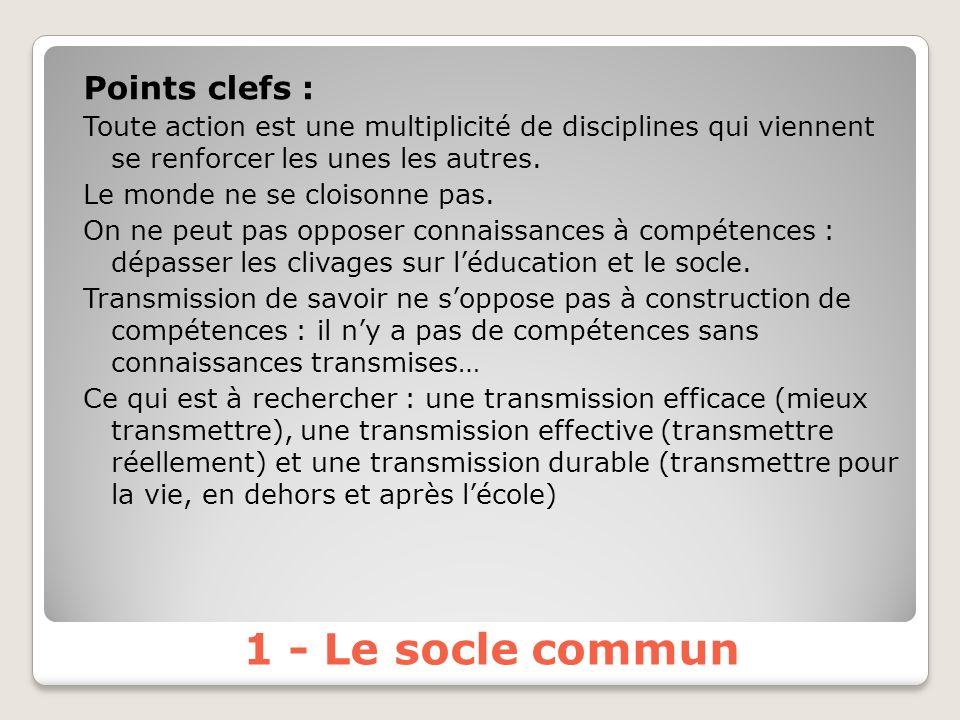 Points clefs : Toute action est une multiplicité de disciplines qui viennent se renforcer les unes les autres.