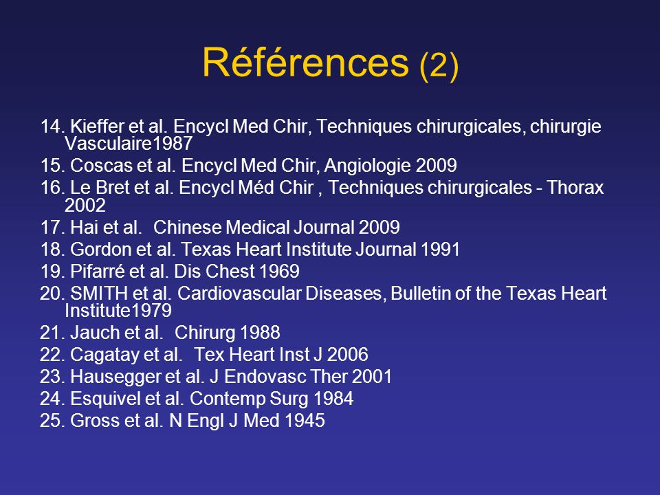 Références (2) 14.Kieffer et al.