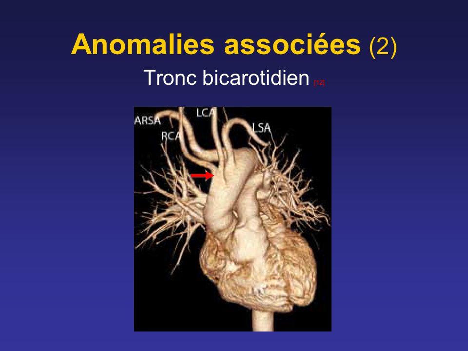 Anomalies associées (2) Tronc bicarotidien [12]