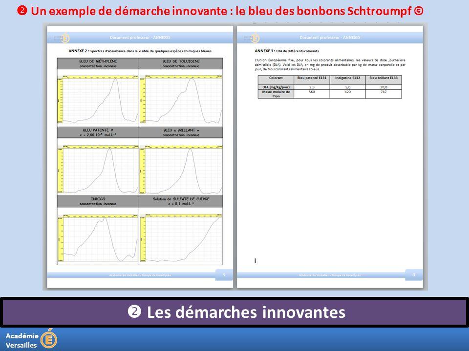 Académie Versailles Les démarches innovantes Un exemple de démarche innovante : le bleu des bonbons Schtroumpf ©
