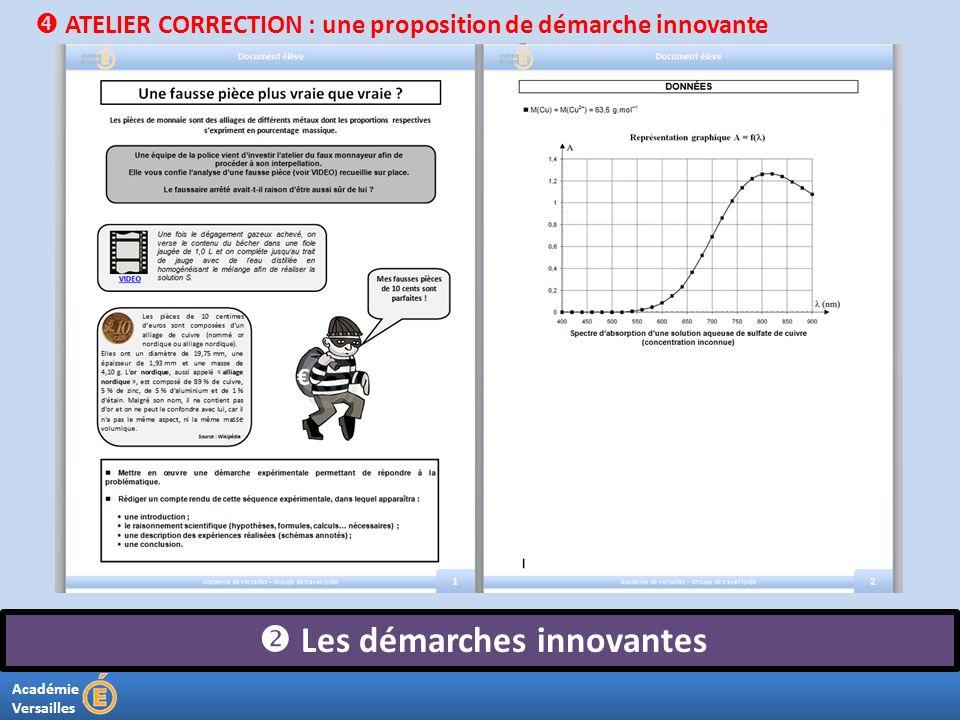 Académie Versailles Les démarches innovantes