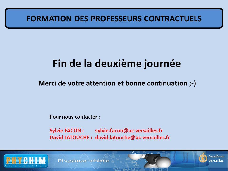 FORMATION DES PROFESSEURS CONTRACTUELS Académie Versailles Pour nous contacter : Sylvie FACON : sylvie.facon@ac-versailles.fr David LATOUCHE : david.l