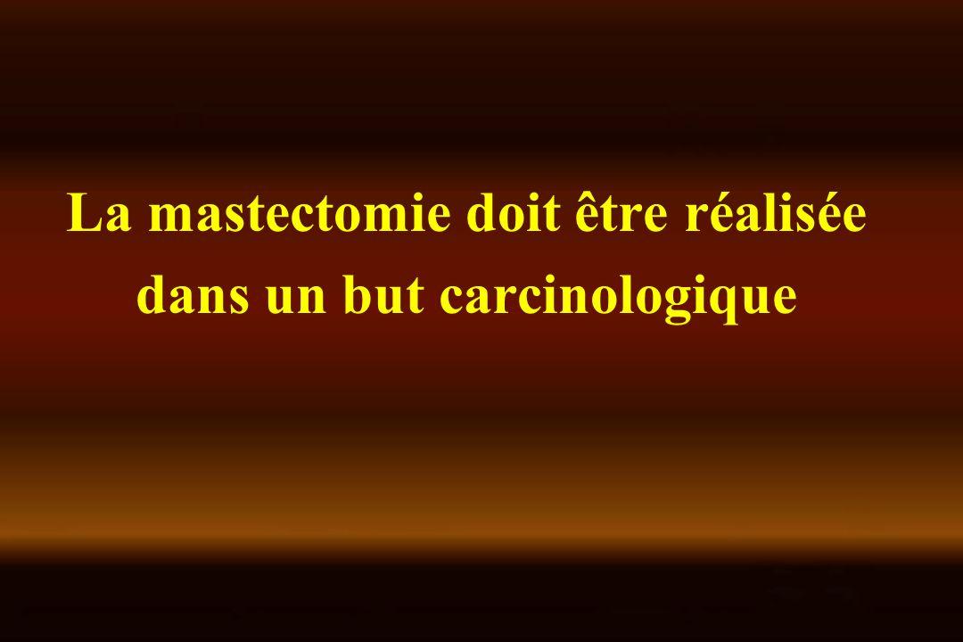 La mastectomie doit être réalisée dans un but carcinologique