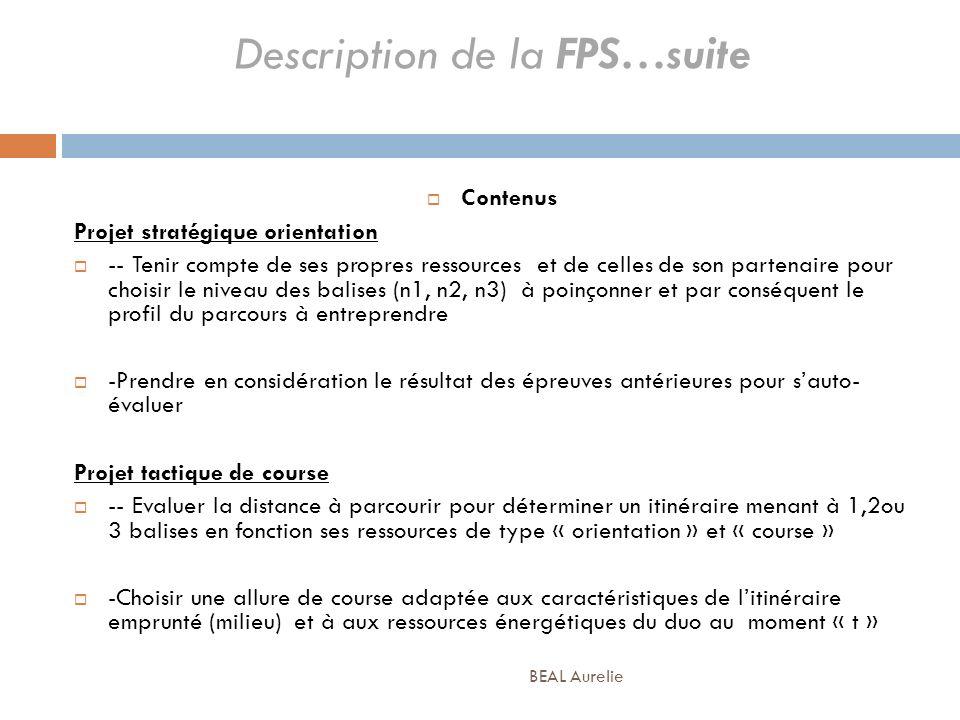 Description de la FPS…suite Contenus Projet stratégique orientation -- Tenir compte de ses propres ressources et de celles de son partenaire pour choi
