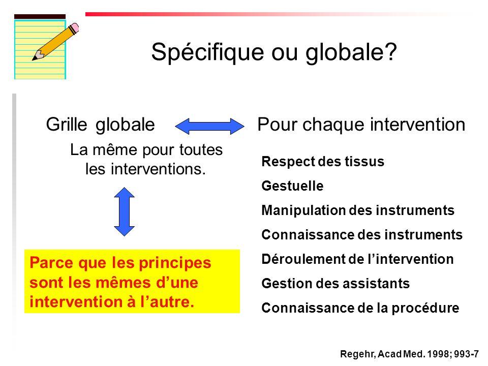 Spécifique ou globale.