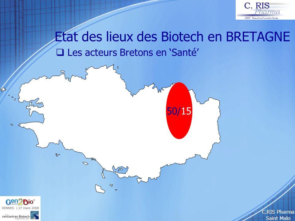 C.RIS Pharma Saint Malo Etat des lieux des Biotech en BRETAGNE Les acteurs Bretons en Santé 50/15