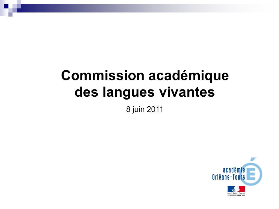 Commission académique des langues vivantes 8 juin 2011