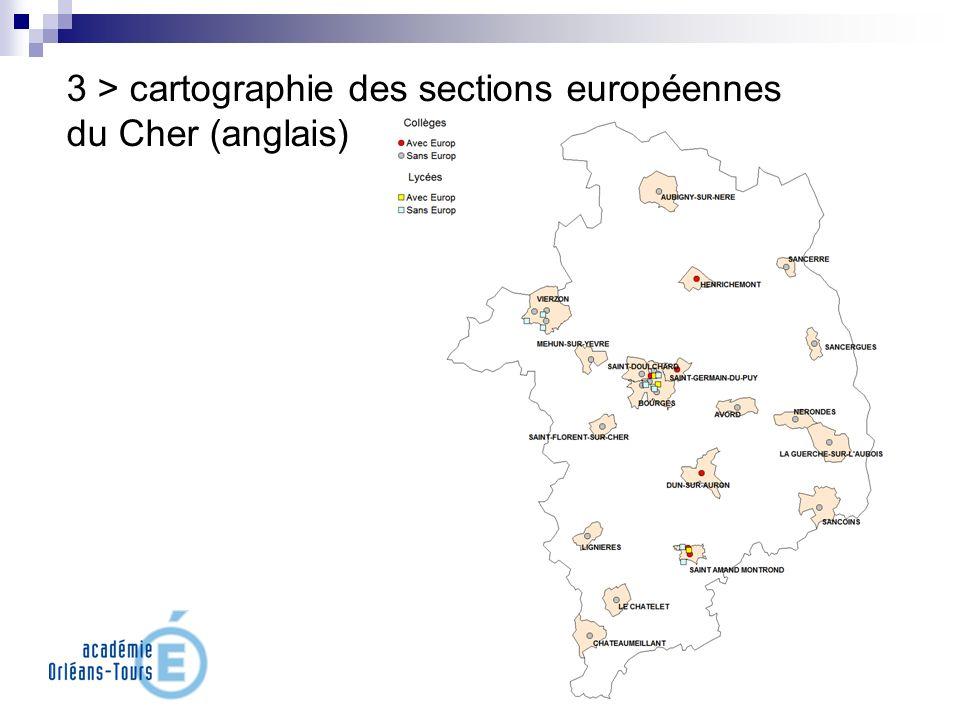 3 > cartographie des sections européennes du Cher (anglais)