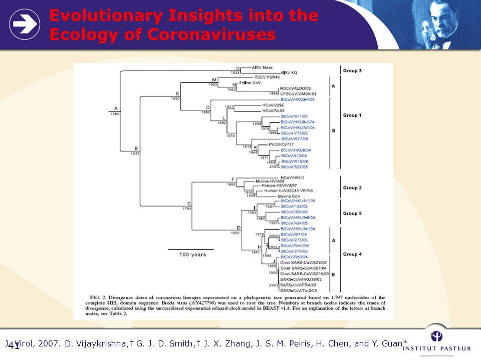 41 Evolutionary Insights into the Ecology of Coronaviruses J.