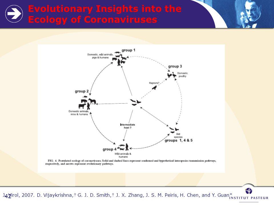 42 Evolutionary Insights into the Ecology of Coronaviruses J.
