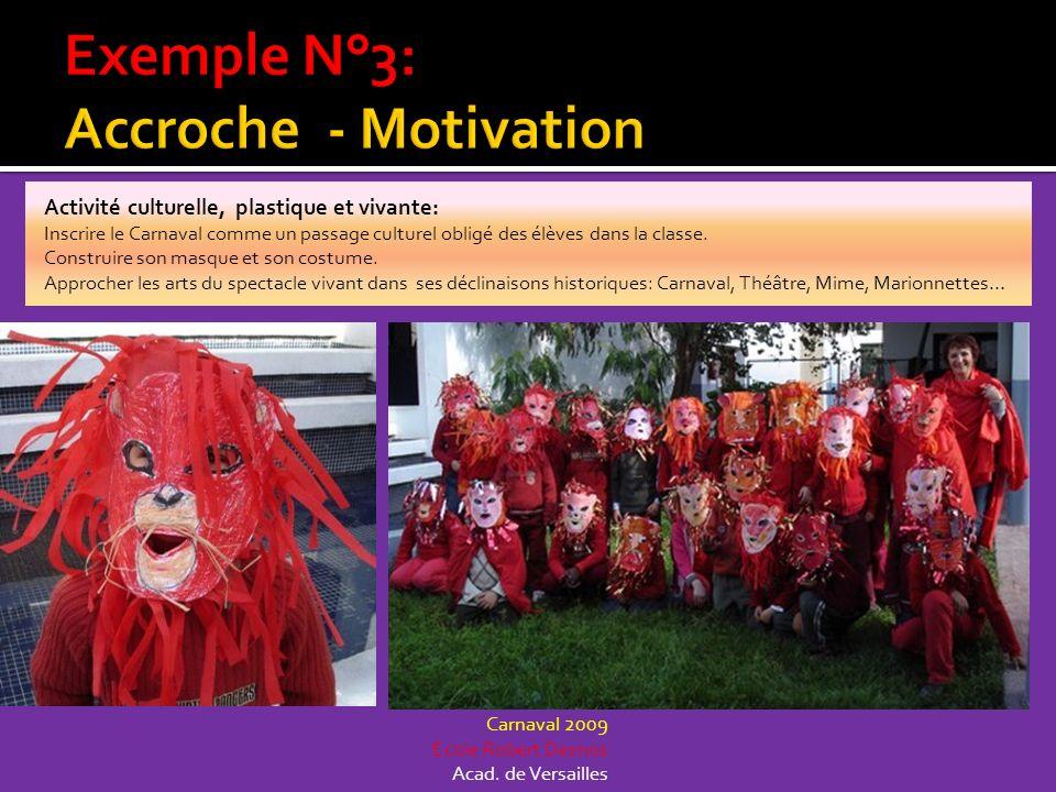 Activité culturelle, plastique et vivante: Inscrire le Carnaval comme un passage culturel obligé des élèves dans la classe. Construire son masque et s