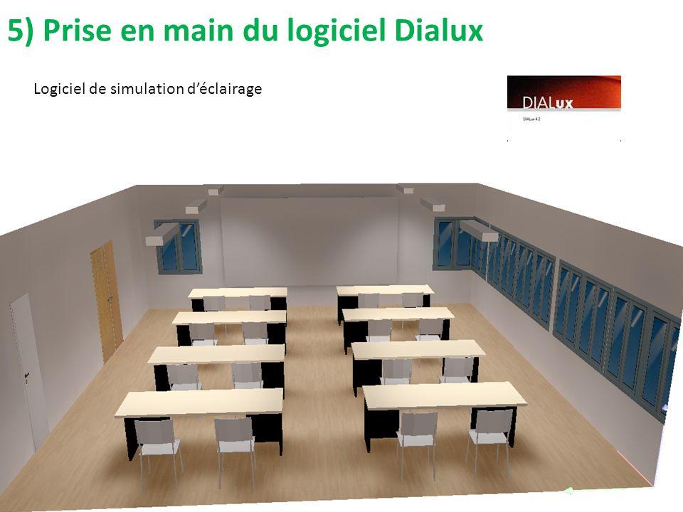 5) Prise en main du logiciel Dialux Logiciel de simulation déclairage