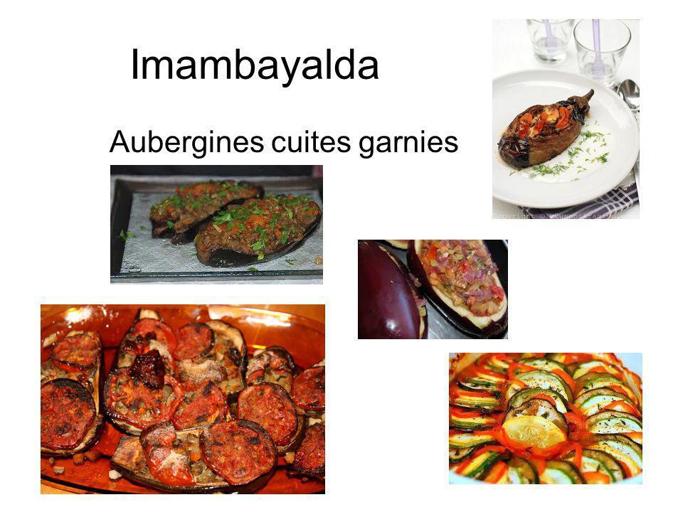 Imambayalda Aubergines cuites garnies
