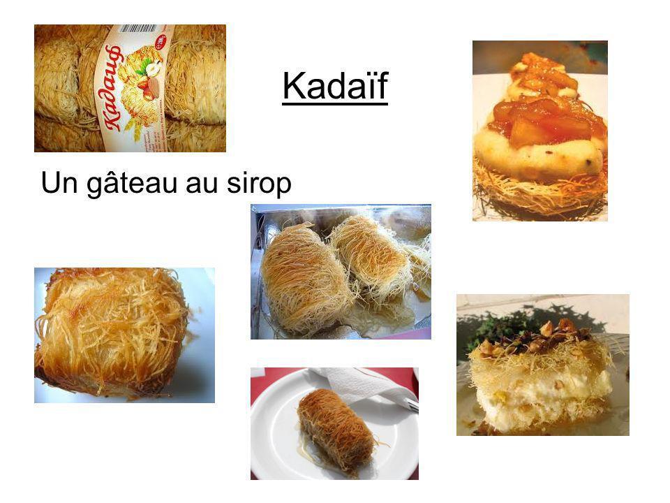 Kadaïf Un gâteau au sirop