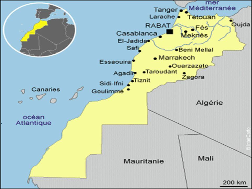 Le Maroc est à la jonction de deux continents, dotés de deux façades maritimes : la méditerranée et latlantique.
