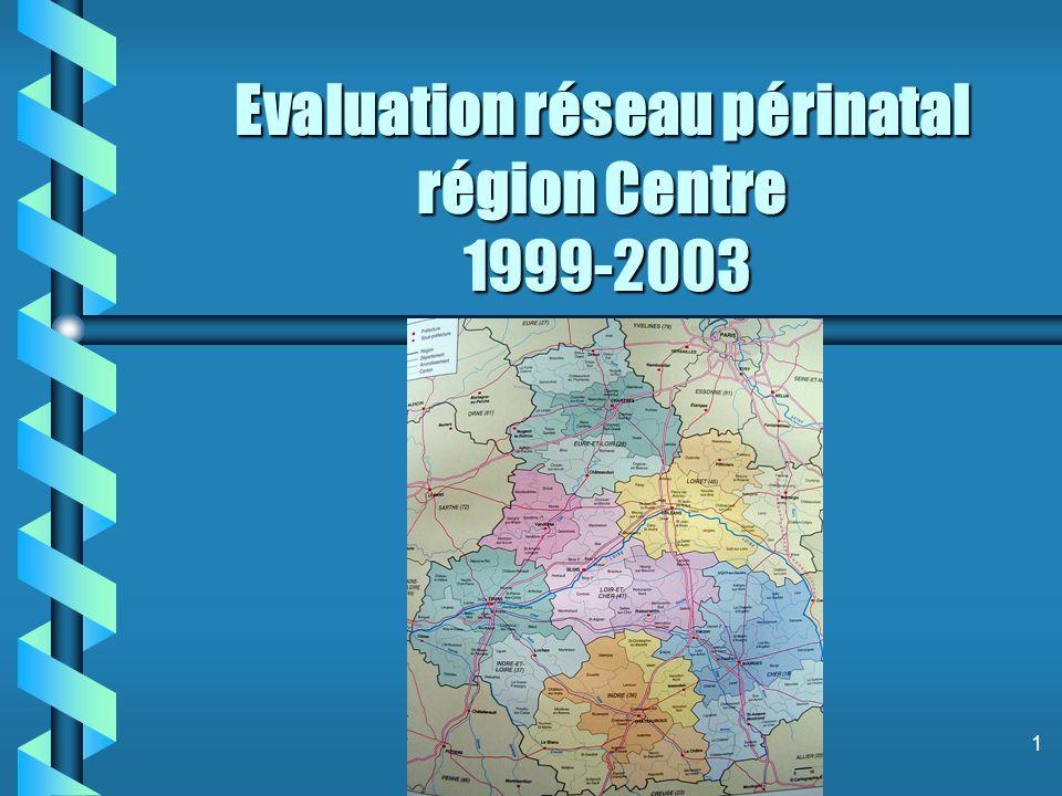 1 Evaluation réseau périnatal région Centre 1999-2003