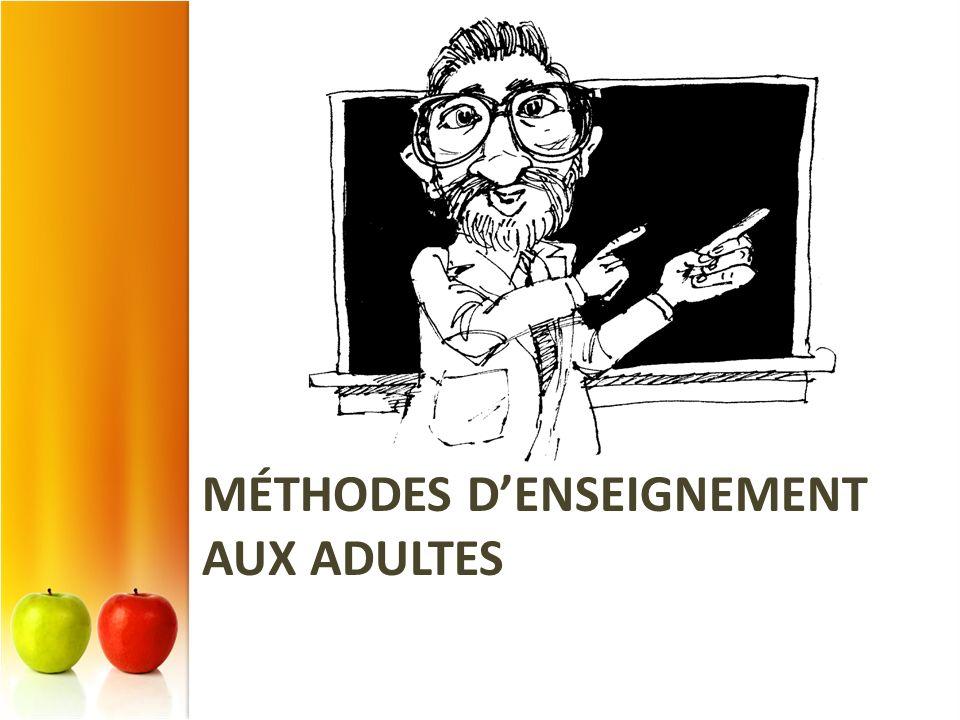 MÉTHODES DENSEIGNEMENT AUX ADULTES