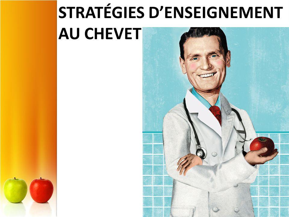 STRATÉGIES DENSEIGNEMENT AU CHEVET