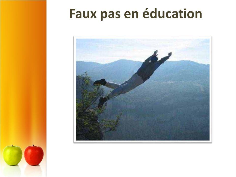 Faux pas en éducation