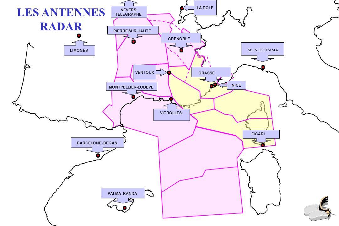 LES ANTENNES RADIO SSG Saint Saulge DIJ Dijon DOL La Dôle MVD Mont Verdun LYS + LSE Lyon VAL Valence MEN Mende MON Montpellier VIT Vitrolles SBM Sainte Baume NIZ Nice