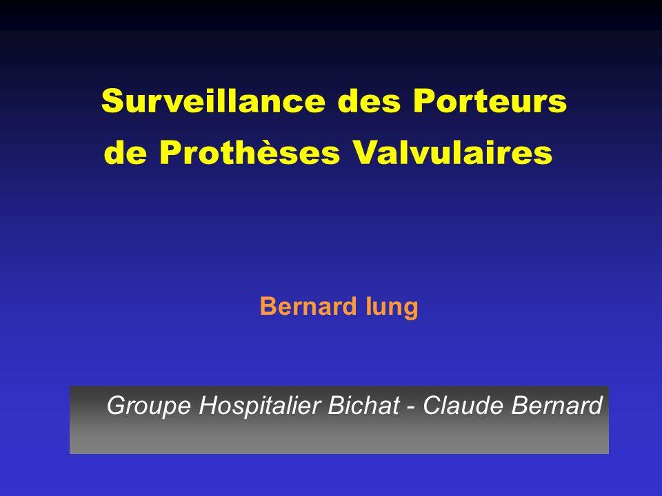 Surveillance des Porteurs de Prothèses Valvulaires Bernard Iung Groupe Hospitalier Bichat - Claude Bernard