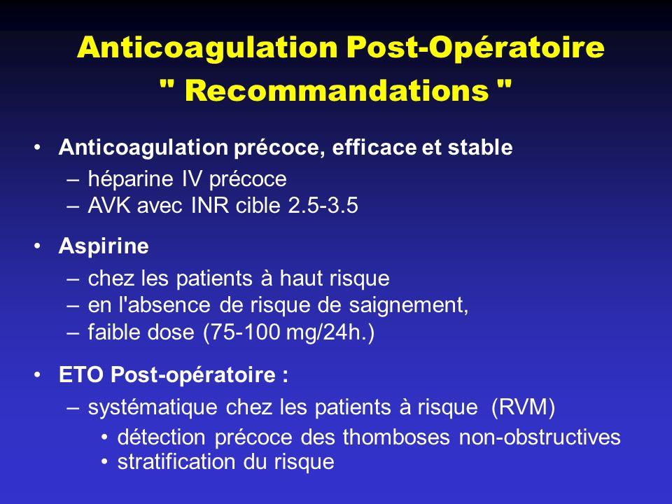 Anticoagulation Post-Opératoire