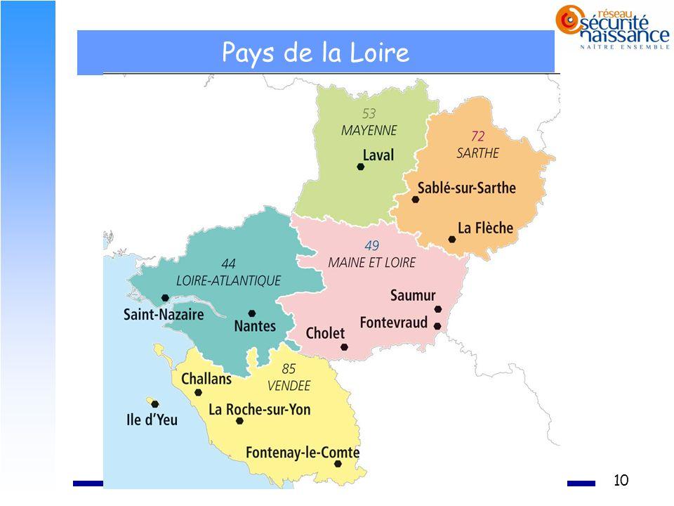 10 Pays de la Loire