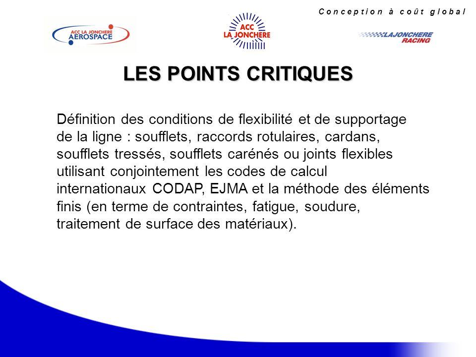 C o n c e p t i o n à c o û t g l o b a l Restructuration majeure du transport aérien.