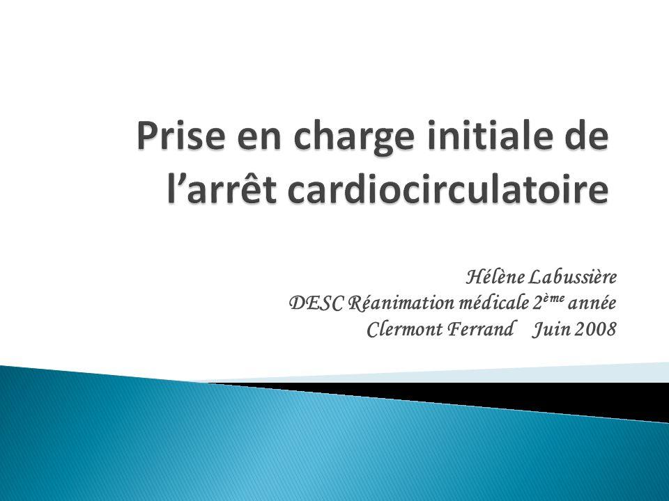 Hélène Labussière DESC Réanimation médicale 2 ème année Clermont Ferrand Juin 2008