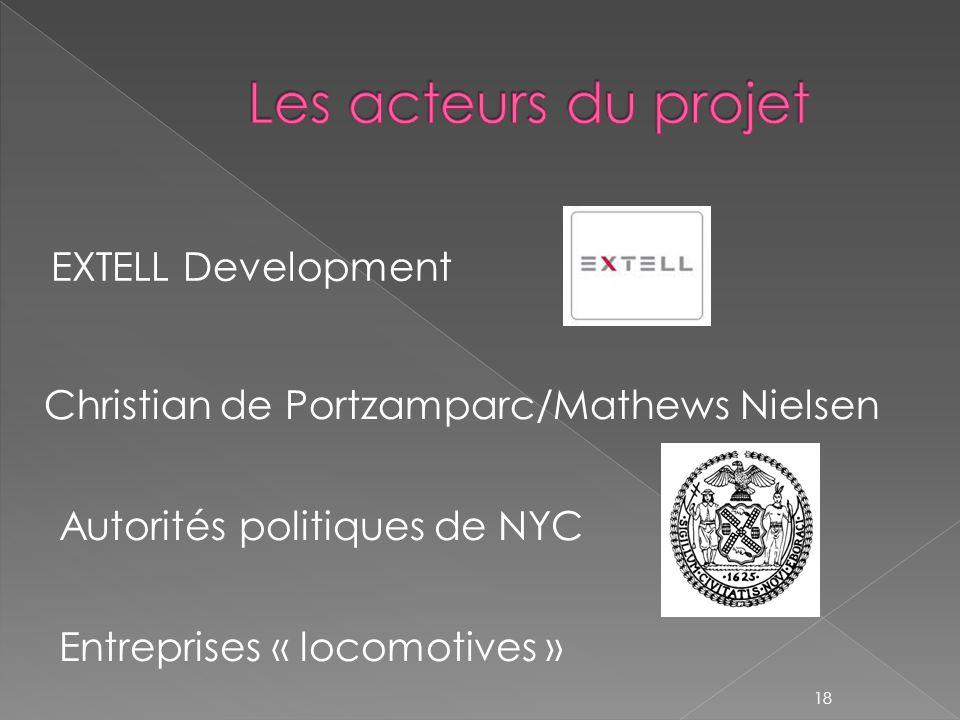 EXTELL Development 18 Christian de Portzamparc/Mathews Nielsen Autorités politiques de NYC Entreprises « locomotives »