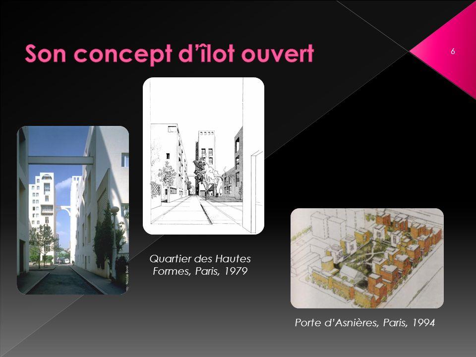 Age I : Ville traditionnelle - Haussmann Age II : Mouvement moderne - Début de 20 ème siècle.