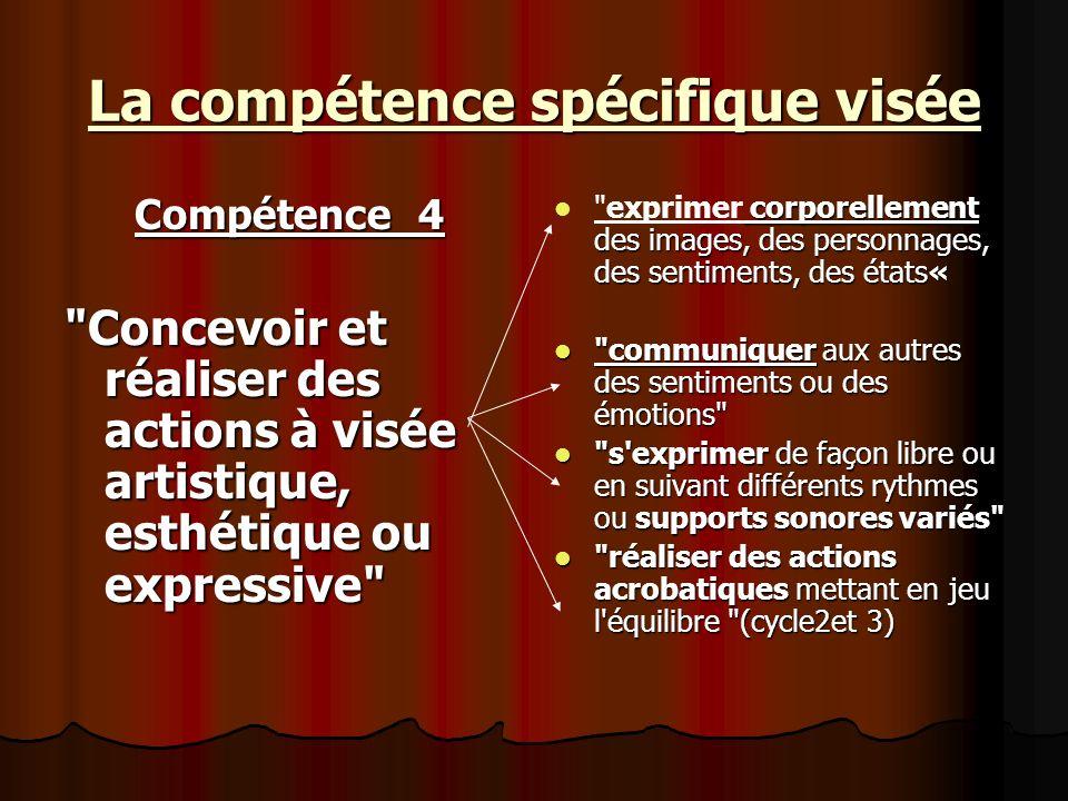 La compétence spécifique visée Compétence 4