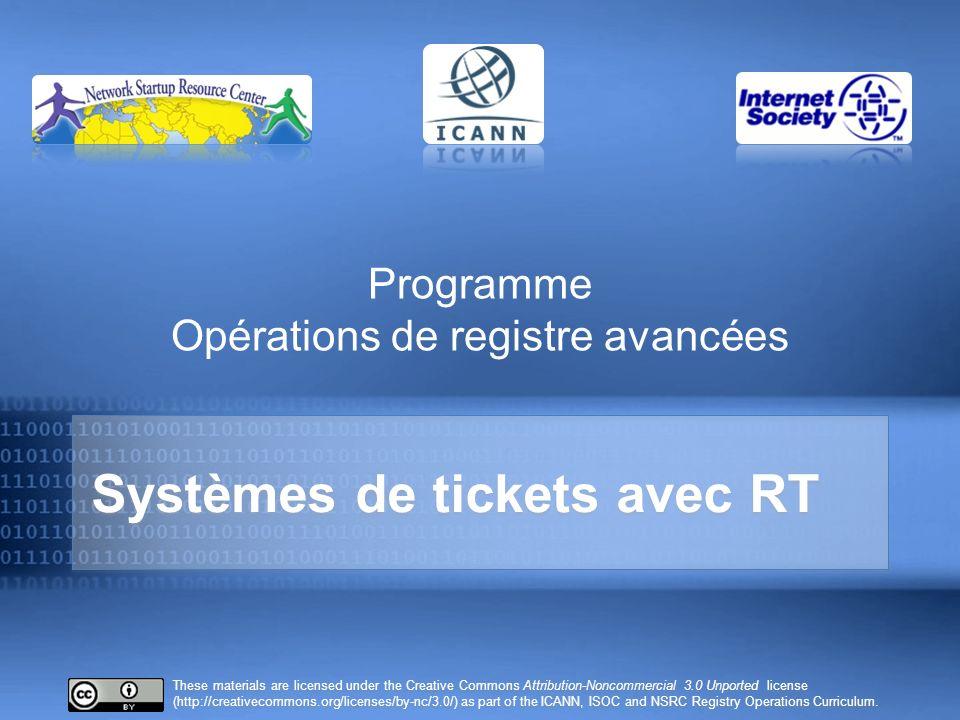 Vous souvenez-vous de ceci .Pourquoi des systèmes de tickets .