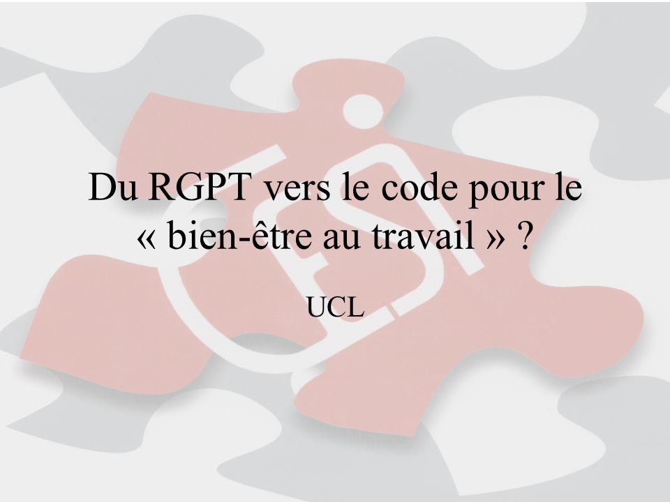 Du RGPT vers le code pour le « bien-être au travail » ? UCL