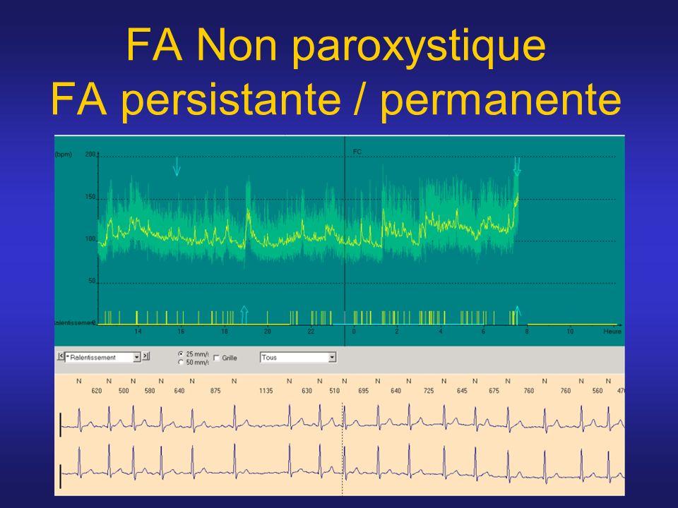 FA Non paroxystique FA persistante / permanente