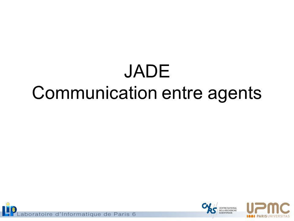JADE Communication entre agents