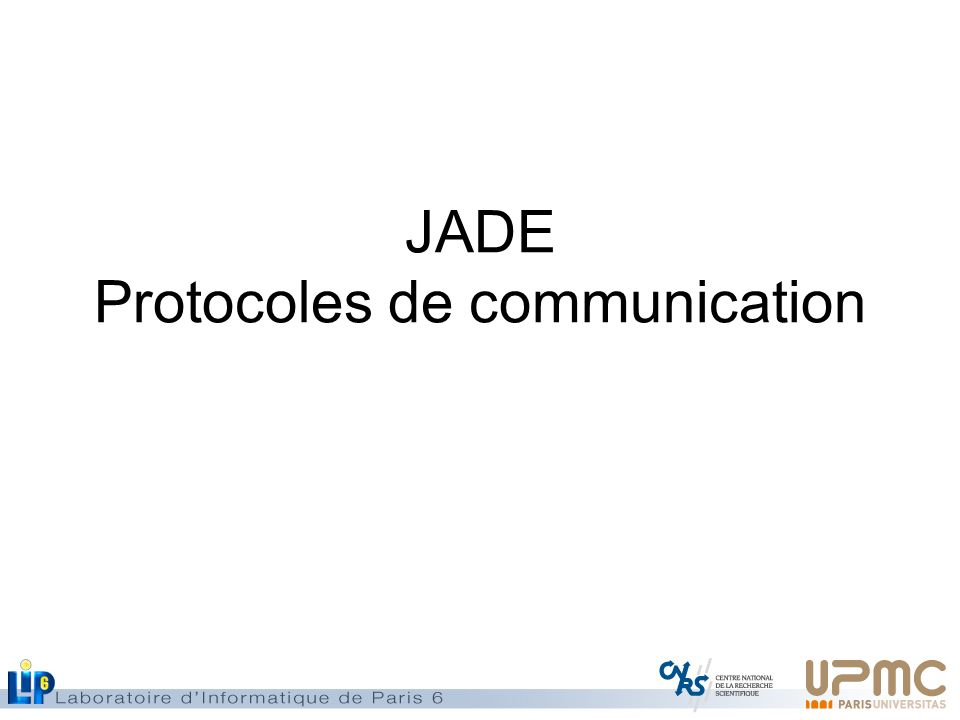 JADE Protocoles de communication