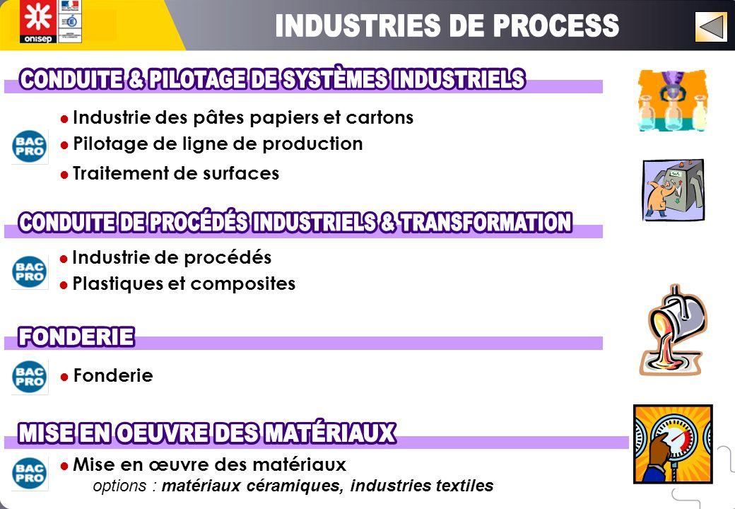 Industrie des pâtes papiers et cartons Pilotage de ligne de production Traitement de surfaces Industrie de procédés Plastiques et composites Fonderie