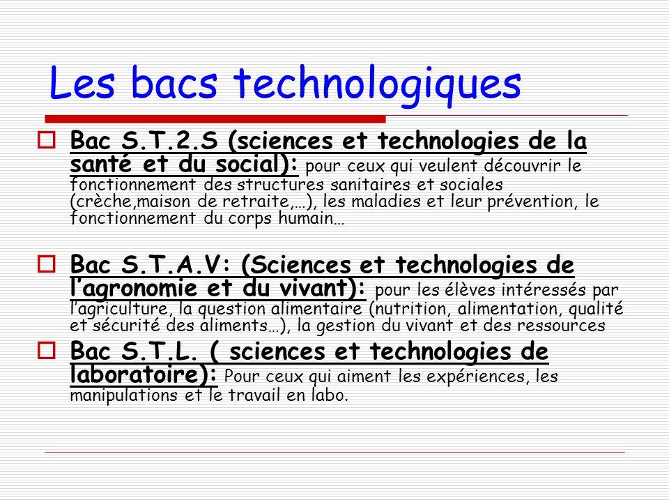 Les bacs technologiques Bac S.T.2.S (sciences et technologies de la santé et du social): pour ceux qui veulent découvrir le fonctionnement des structu
